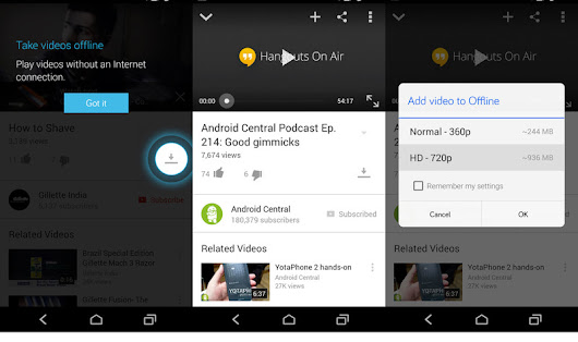 Take YouTube videos offline on your phone