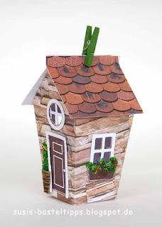 english cottage steinhaus-haus-verpackung-mit-stampin-up-framelits-zu-hause