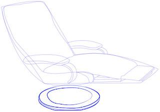 Langkah praktis menggambar Recliner (Sofa)