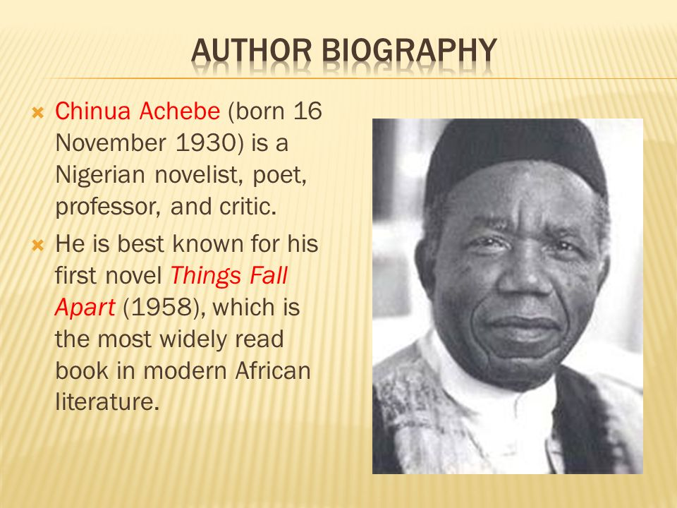 things fall apart by chinua achebe europeans view of africa and slave trade Pre-and-post colonial igbo culture trade between africa and europe became to the highly successful novel things fall apart by chinua achebe.