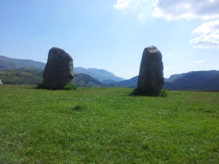 Castlerigg, looking down towards Helvellyn