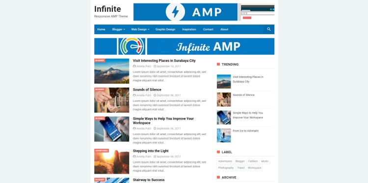 So If You Start To Use Accelerated Mobile Pages In Your Blog You Should  Definitely Take Infinite.