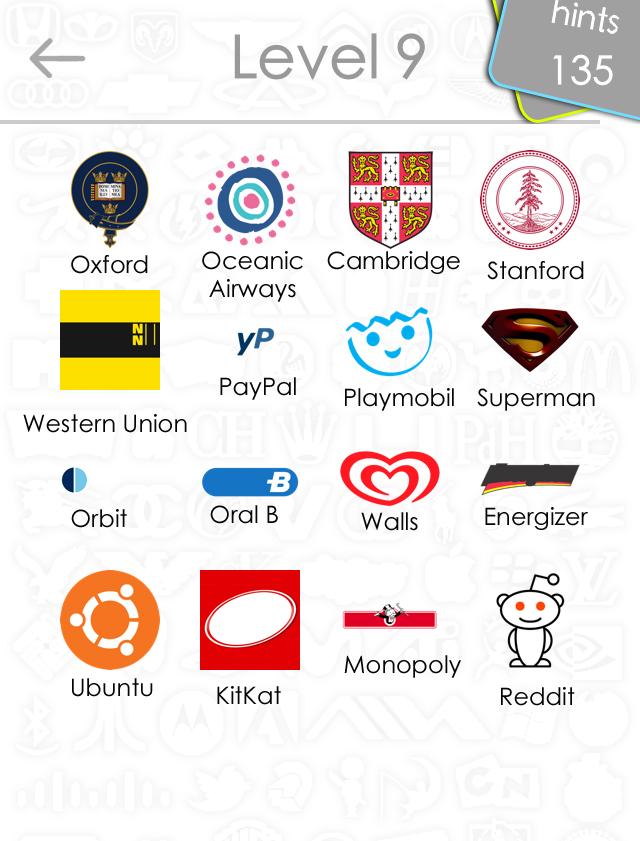 Logo Quiz Answers For Level 9 | Logo Wallpaper
