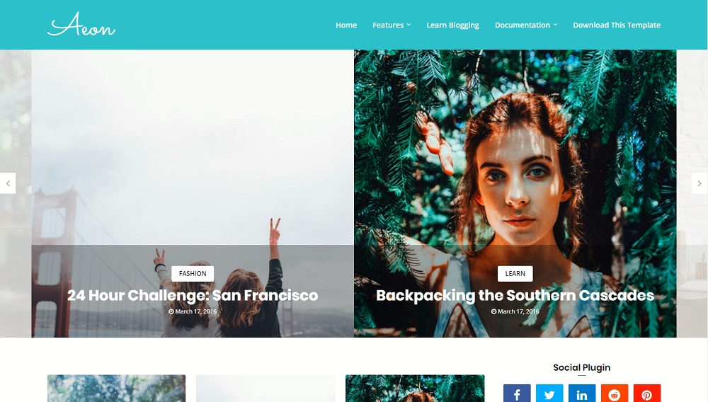 Aeon - Responsive Modern Blogger Template