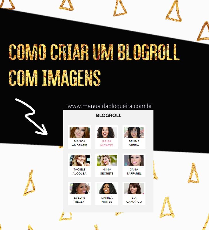 Blogroll com imagens