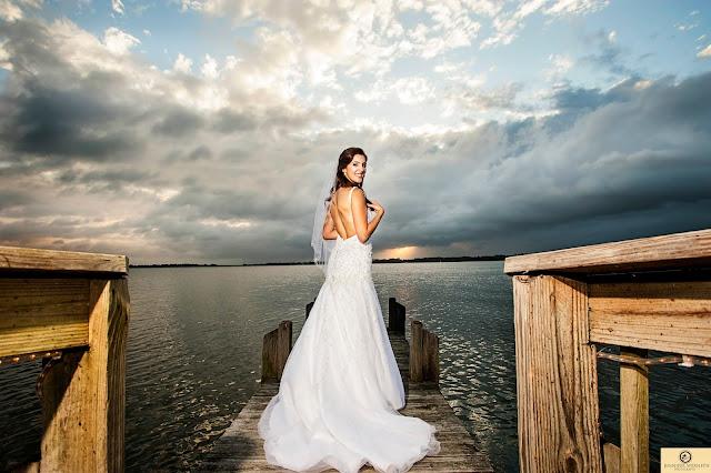 bride on dock