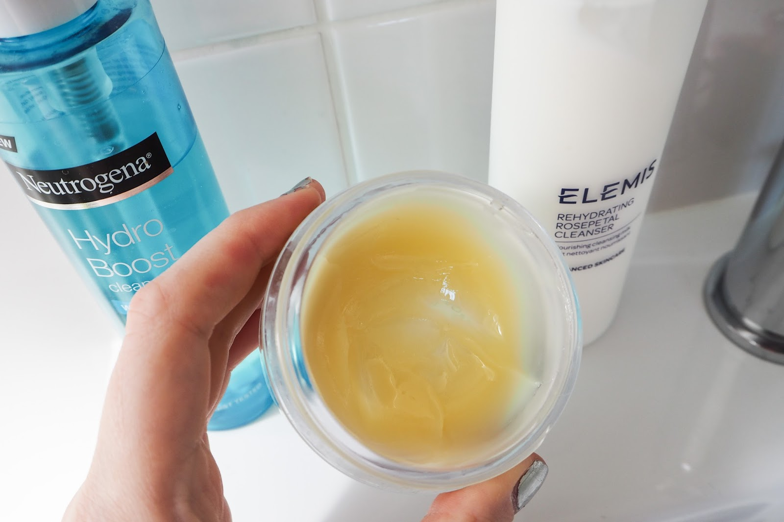 Close up of the Elemis Cleansing Balm to see the texture