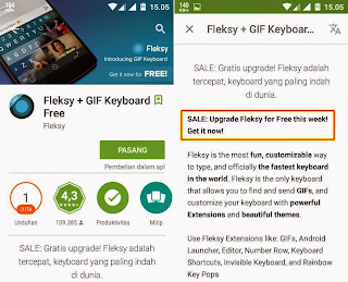 Free Download Fleksy Keyboard APK Pro Full Version Gratis Terbaru upgrade premium