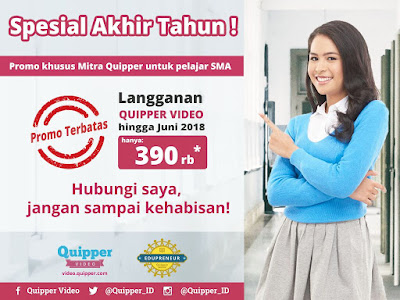 Promo Quipper Video Tinggal Sebulan Lagi lho!