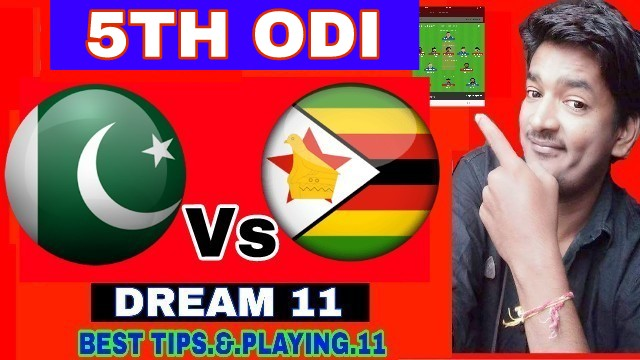 PAK Vs ZIM 5TH ODI MATCH, Dream11, | RJ DREAM 11 TIP