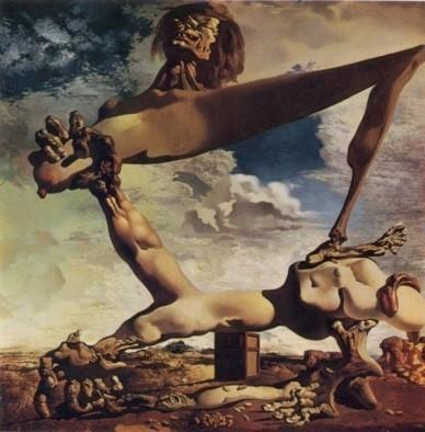 天才、ダリの奇行と不思議なインスピレーション 内乱を予言した作品?『茹でたインゲン豆のある柔らかい構造(内乱の予感)』1936