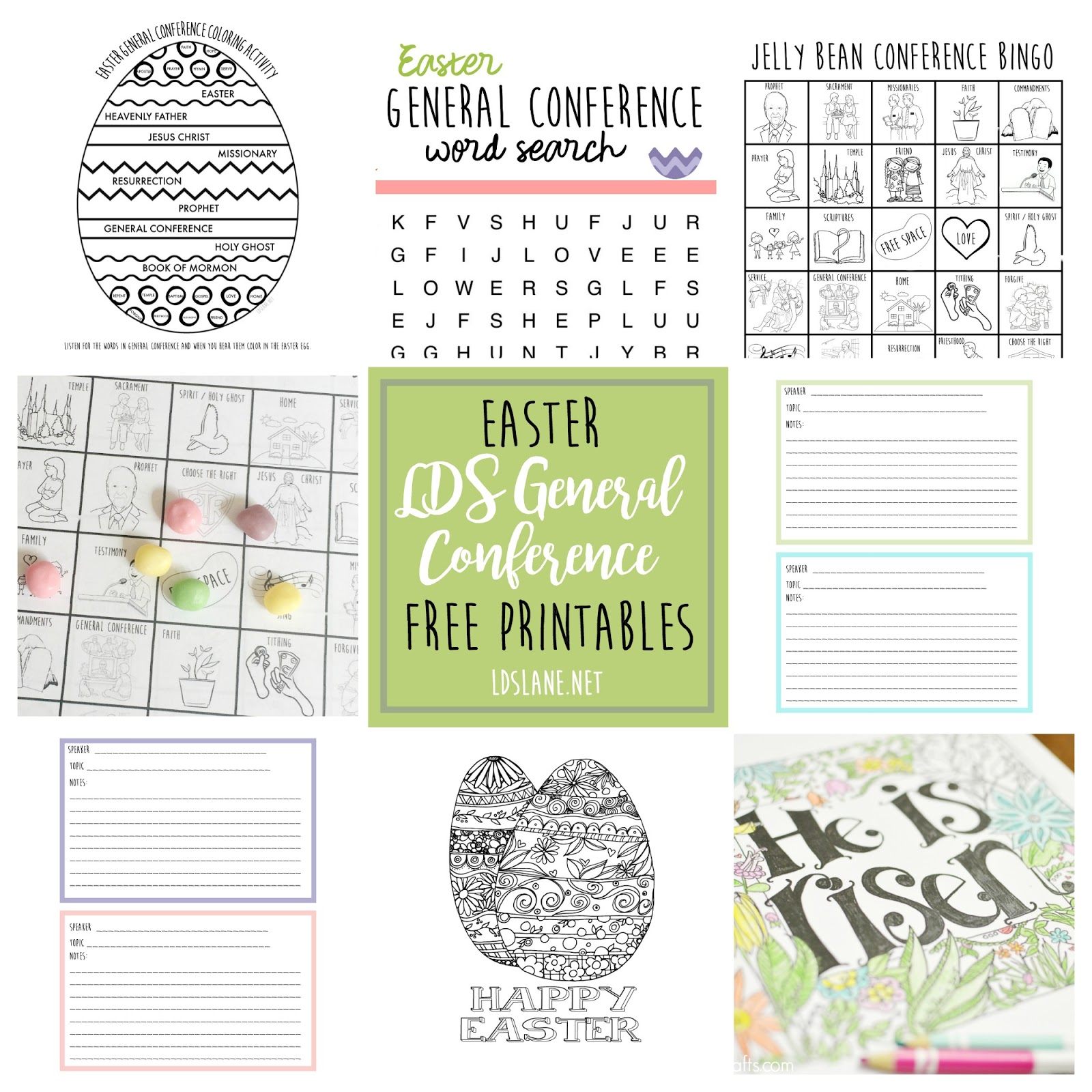 Easter General Conference Activity Pages