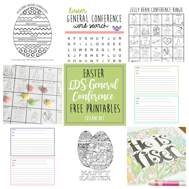 Easter LDS General Conference - free printables - ldslane.net