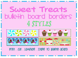 sweet treats themed bulletin board border