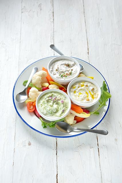 3 Dips et légumes