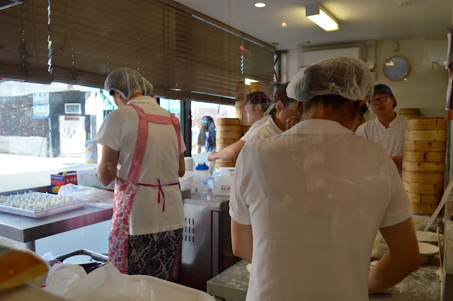 chefs rolling dumplings at Shanghai Street, Melbourne