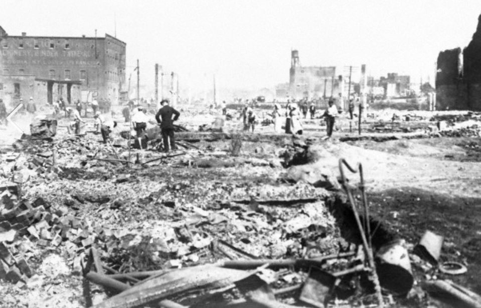 The 1917 East St. Louis race riots that left hundreds of Blacks slaughtered by Whites for taking jobs they refused