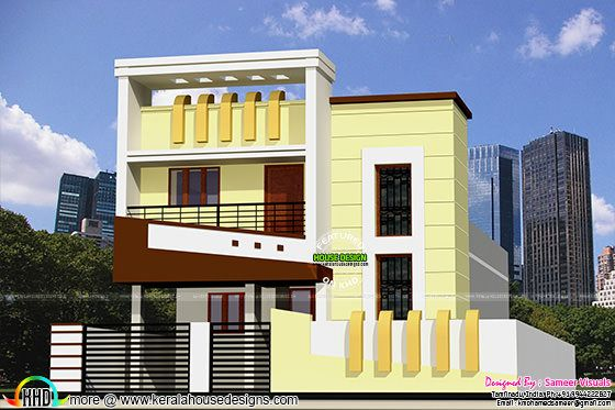 1300 Sq-Ft Low Budget G+1 House Design