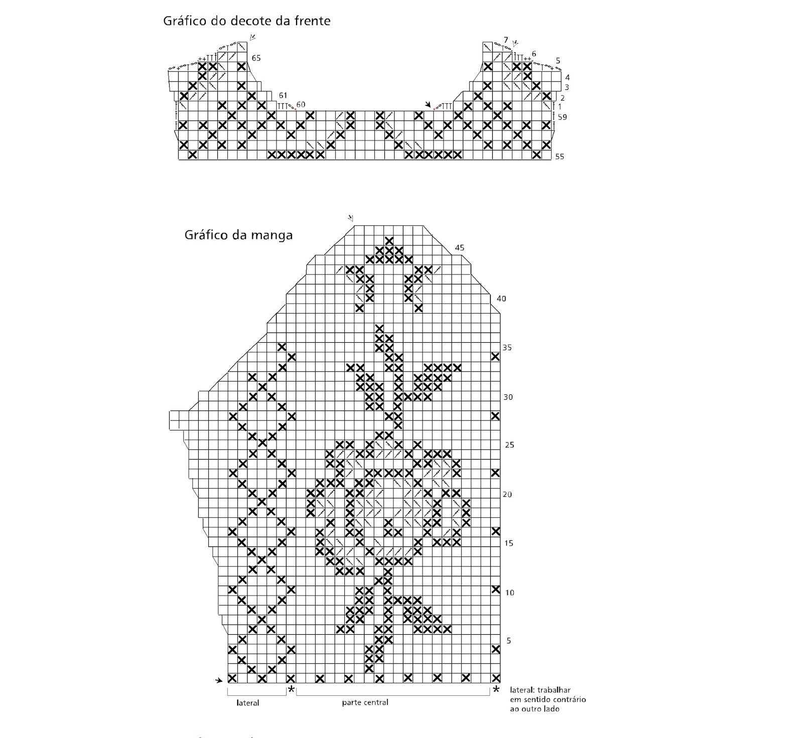 Ergahandmade Filet Crochet Top Diagrams