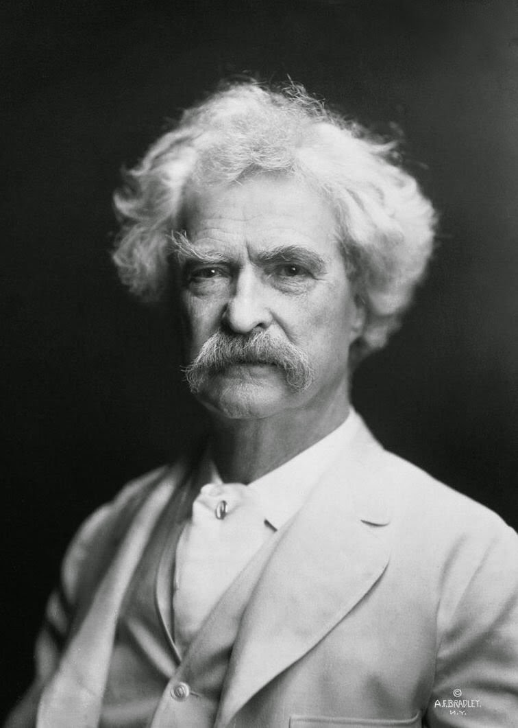 Portrait of Mark Twain by AF Bradley.  Source: http://upload.wikimedia.org/wikipedia/commons/0/0c/Mark_Twain_by_AF_Bradley.jpg