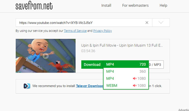 Cara Download Youtube Savefromnet