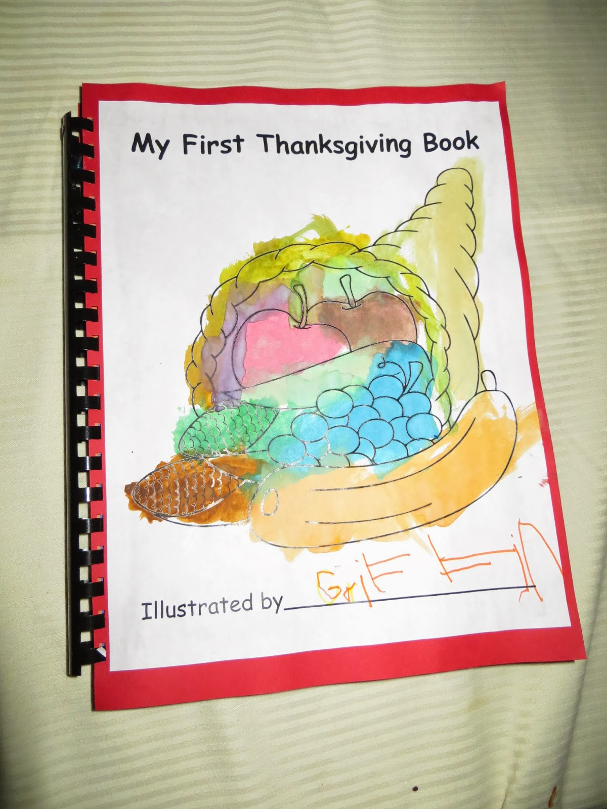 Preschool For Rookies My First Thanksgiving Book