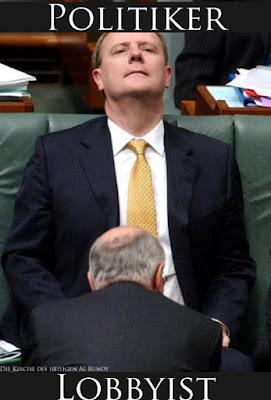 Politiker und Lobbyisten Lustiges Bild