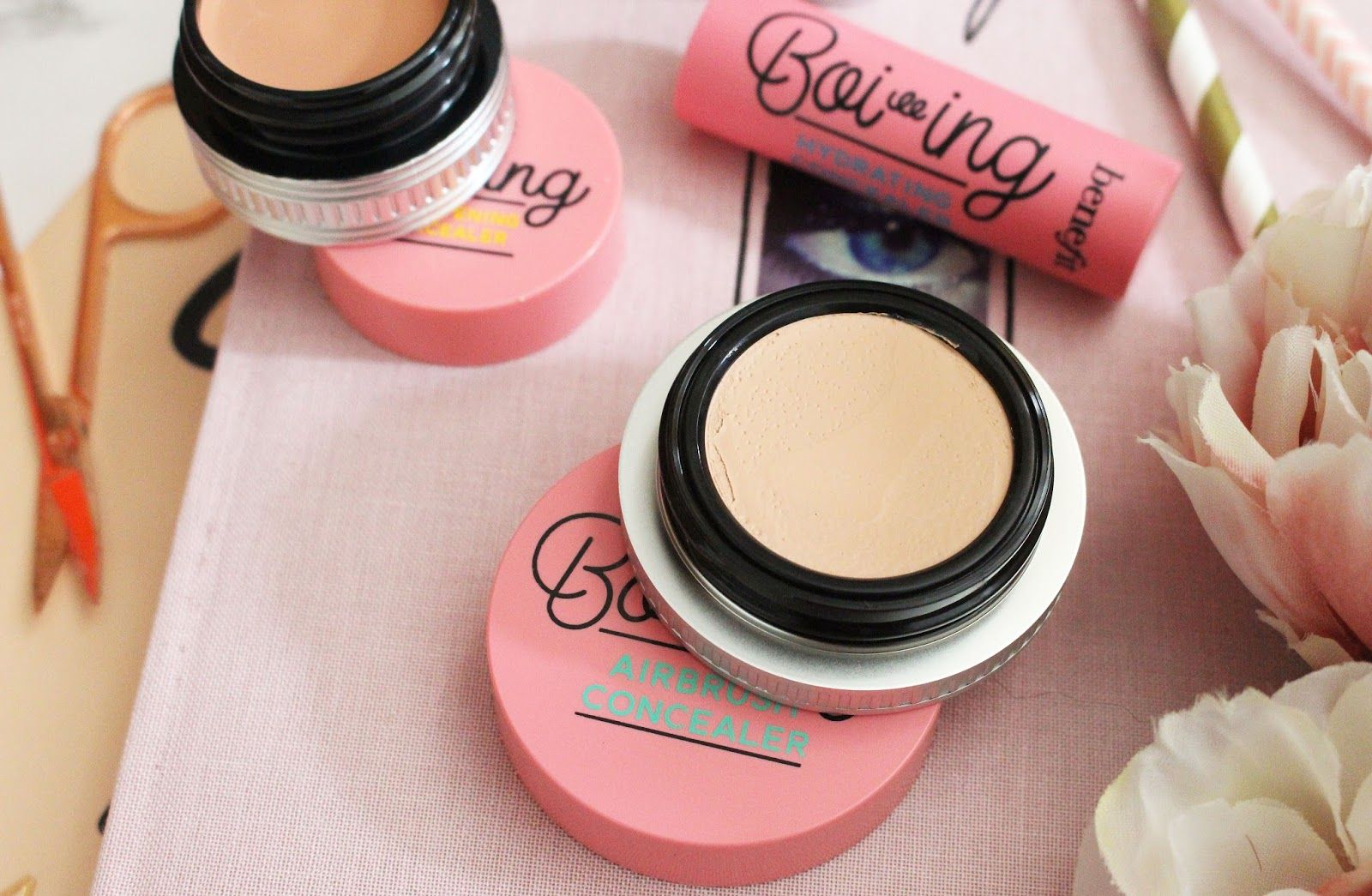best under eye concealer, how to get rid of under eye bags, how to get rid of under eye darkness, Benefit concealer review uk, benefit make-up uk, benefit review, Boi-ing Airbrush Concealer,  Boi-ing Industrial Strength Concealer,  Boi-ing Hydrating Concealer, Boi-ing Brightening Concealer