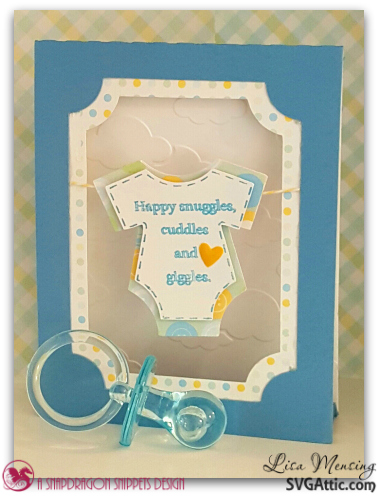 Created In The Crafting Cave with Lisa A Baby Boy Tent Card