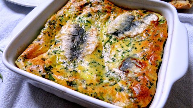 sardine, frittata, forno, buffet