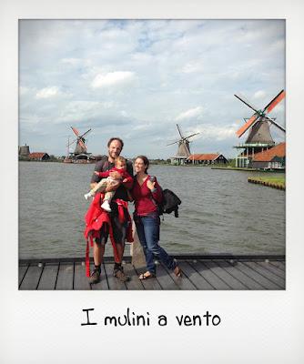 Famiglia con bambini a Zaanse Scans, vicino Amsterdam