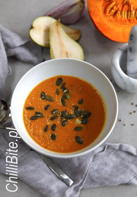 zupa z dyni przyprawy gruszki