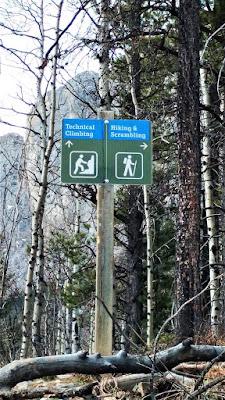 Mount Yamnuska Hiking Trail Sign