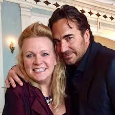 Carolyn Hinsey with soap opera legend Thorsten Kaye - photo from Facebook