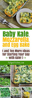 Baby Kale, Mozzarella, and Egg Bake found on KalynsKitchen.com.