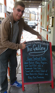 The Galley gluten free restaurant in Plymouth gets the thumbs up from me