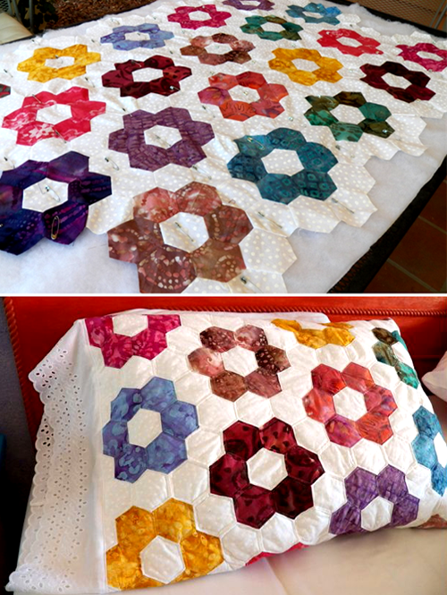 Machine Sewn Hexagons Tutorial