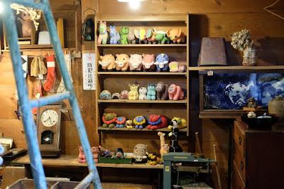 松本市四賀 雑貨と古道具 よこのま アフリカのぬいぐるみ