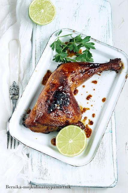 udka, kurczak, grill, limonka, bernika, kulinarny pamietnik, obiad