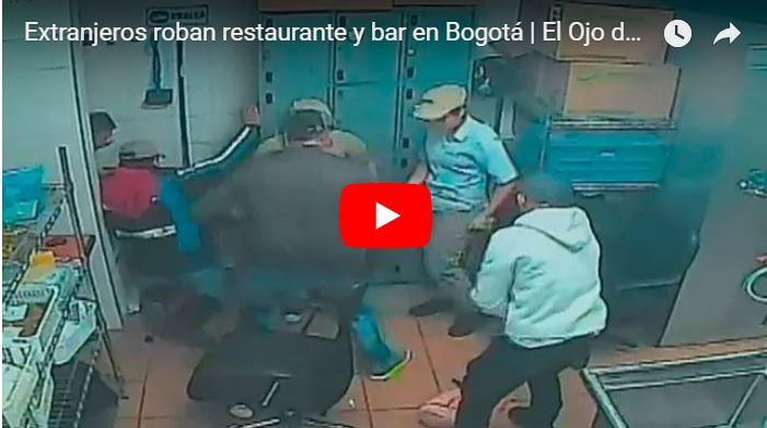 Cuatro venezolanos detenidos en Bogotá tras asaltar un bar