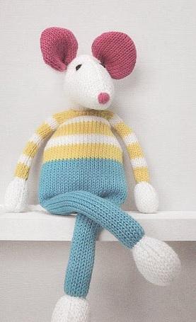 souris au tricot