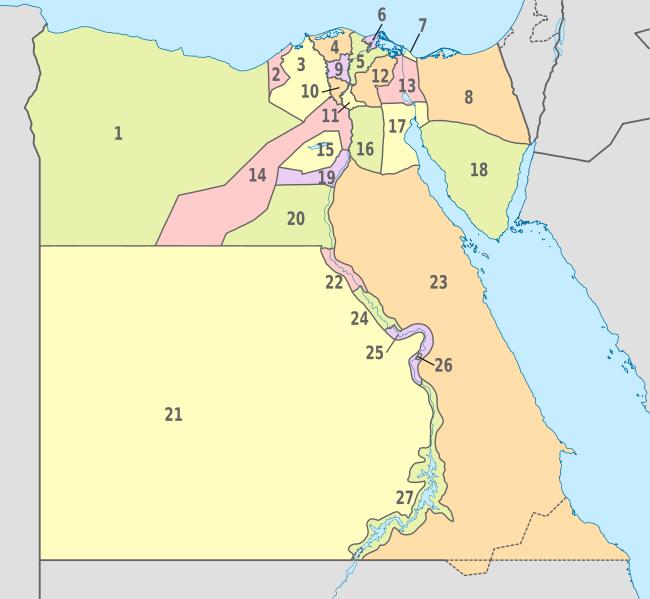 Pembagian wilayah administratif Mesir