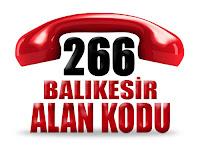 0266 Balıkesir telefon alan kodu