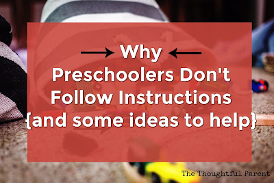 Why Preschoolers Don't Follow Instructions {and some ideas to help}