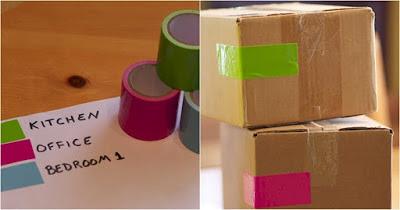 ميّز الكراتين بألوان مختلفة حسب أماكن تنزيلها