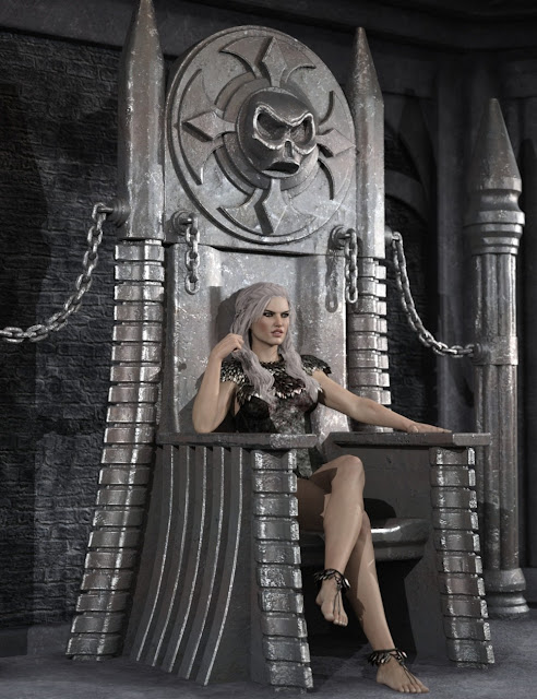 Dark Fantasy Throne and Poses for Genesis 3 Male and Female