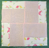 http://joysjotsshots.blogspot.com/2016/03/quilt-shot-block-62-4-corners-4-patch.html