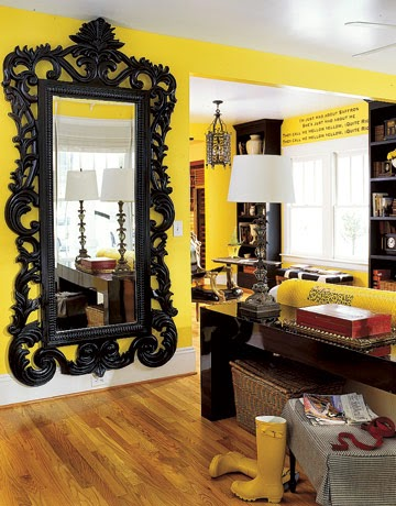 Disney Decorations Interior Design Mirror Beauty and the Beast Belle Baroque Rococo Yellow Chandelier