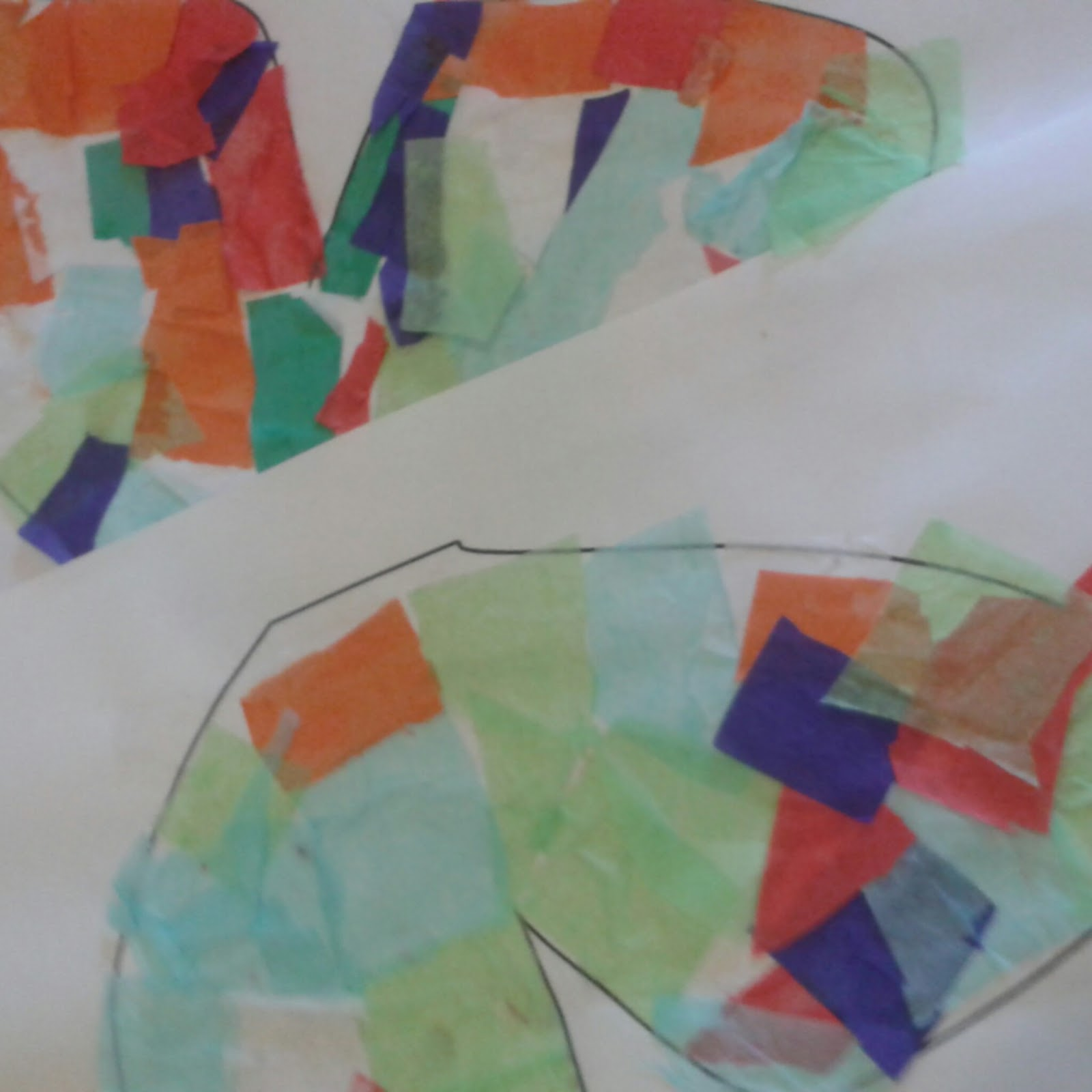 They Grow So Quick: Tissue Paper Butterfly collage