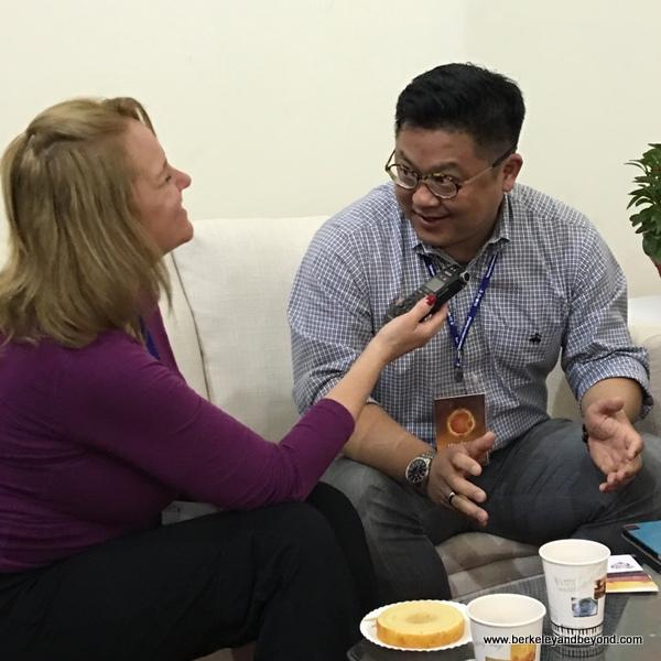 Mollie Blaisdell interviews Dr. Wayne Liu at Taiwan Lantern Festival